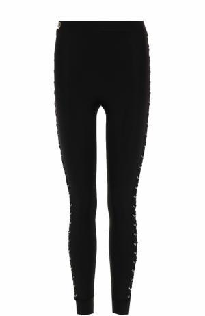 Брюки-скинни с декоративной шнуровкой Philipp Plein. Цвет: черный