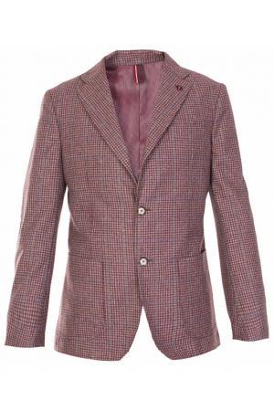 Однобортный пиджак в клеточку Harmont&Blaine. Цвет: клетка