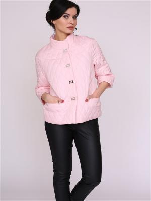 Куртка nasha. Цвет: бледно-розовый