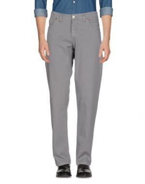 Повседневные брюки BARBA Napoli. Цвет: серый