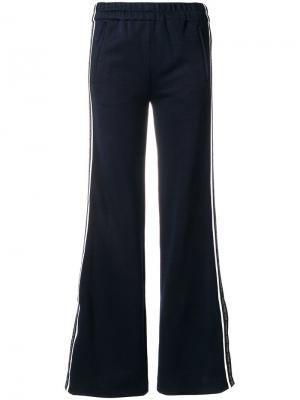 Расклешенные брюки с полоской по бокам Victoria Beckham. Цвет: синий