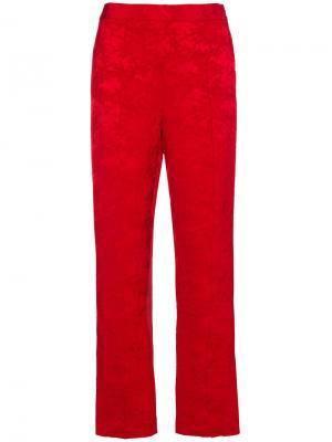 Жаккардовые брюки Oboe Rosie Assoulin. Цвет: красный