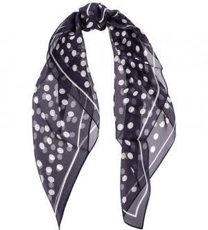Шелковый платок в горошек FRAAS. Цвет: синий