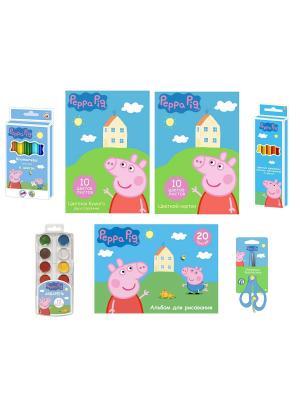 Набор для рисования Peppa Pig. Цвет: голубой, желтый, розовый