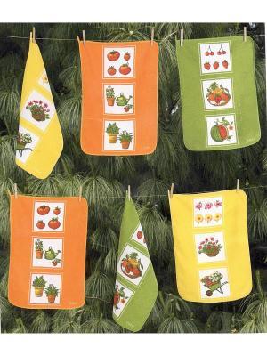 Комплект кухонных полотенец Gabel 6пр 50x70 Garden La Pastel. Цвет: коралловый, светло-коричневый