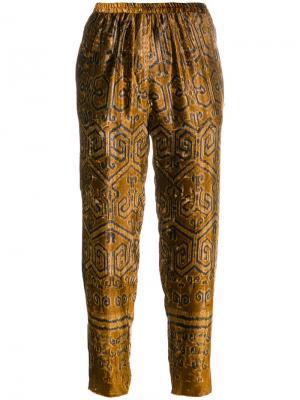 Укороченные брюки Forte. Цвет: коричневый