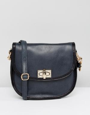 Urbancode Кожаная сумка. Цвет: темно-синий