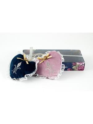 Набор аромасаше в подарочной упаковке Сердце Русские подарки. Цвет: синий, розовый