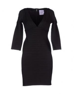 Короткое платье HERVÉ LÉGER BY MAX AZRIA. Цвет: черный