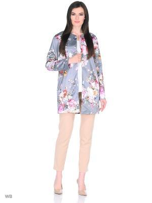 Легкое весенне-летнее пальто Brassorti. Цвет: серый