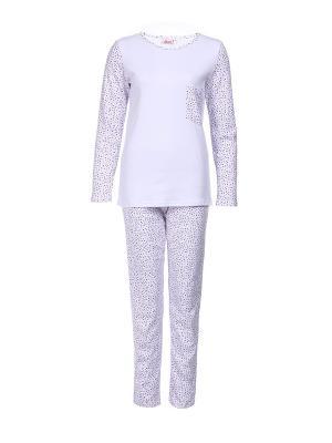 Пижама Веста.. Цвет: сиреневый, белый