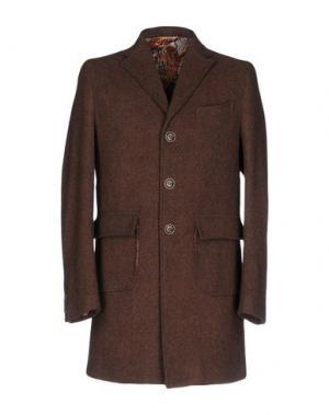 Пальто BARBATI. Цвет: коричневый