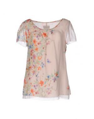 Блузка ROBERTA SCARPA. Цвет: розовый