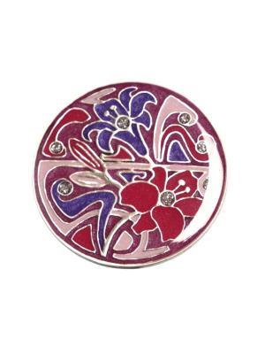 Брошь Clara Bijoux. Цвет: сиреневый, розовый, фиолетовый