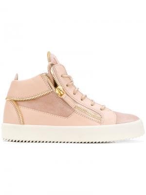 Кеды Kriss Giuseppe Zanotti Design. Цвет: розовый и фиолетовый