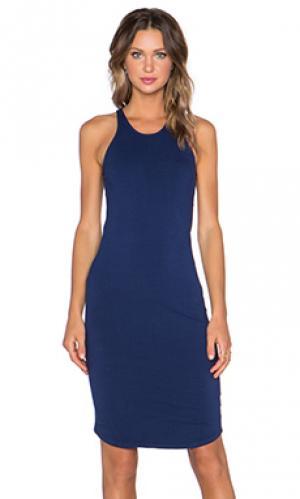 Платье-майка sporty MONROW. Цвет: синий