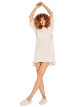 Ночная сорочка Womensecret Women'secret. Цвет: оранжевый (персиковый)