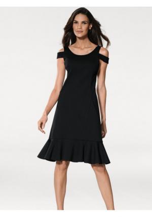 Моделирующее платье Ashley Brooke. Цвет: черный