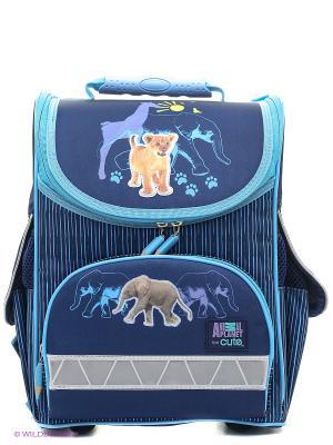 Ранец школьный ANIMAL PLANET too cute Тигрёнок Action!. Цвет: синий