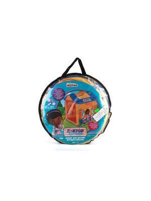 Детская игровая палатка Играем Вместе disney доктор плюшева. Цвет: желтый, синий