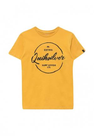 Футболка Quiksilver. Цвет: желтый