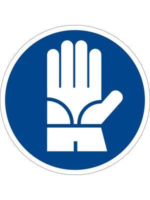Наклейка информационная Работать в диэлектрических перчатках (2 шт.) Оранжевый Слоник. Цвет: синий