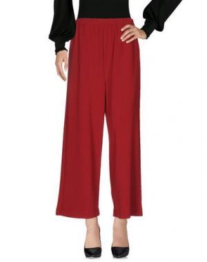 Повседневные брюки CORINNA CAON. Цвет: красно-коричневый