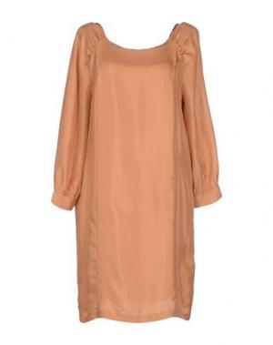 Короткое платье M.GRIFONI DENIM. Цвет: ржаво-коричневый