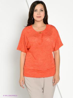 Футболка КАЛIНКА. Цвет: оранжевый