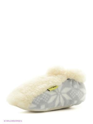 Тапочки детские Снежинки Холти. Цвет: серый