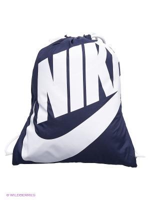 Рюкзак NIKE HERITAGE GYMSACK. Цвет: темно-синий, белый