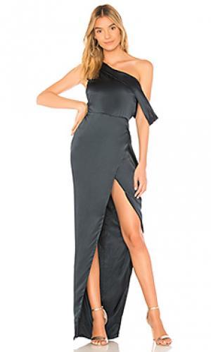 Вечернее платье Michelle Mason. Цвет: синий