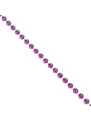 Бусы декоративные, 200см, крупные d1,2см, пластик, цвет фиолет СНОУБУМ. Цвет: фиолетовый