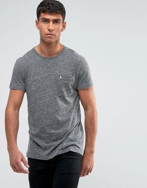 Jack Wills Серая меланжевая облегающая футболка с карманом Ayleford. Цвет: серый