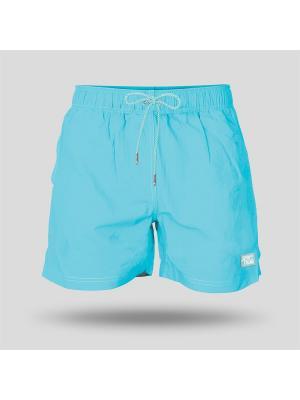 Шорты пляжные мужские JOHN FRANK. Цвет: лазурный