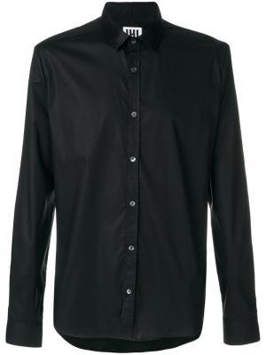 Классическая рубашка Les Hommes Urban. Цвет: чёрный