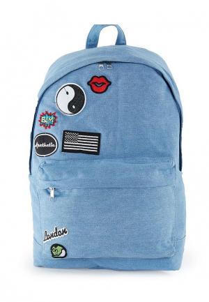 Рюкзак Topman. Цвет: голубой