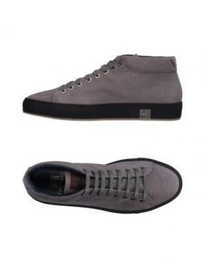 Высокие кеды и кроссовки FABIANO RICCI. Цвет: серый