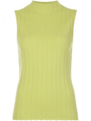 Sleeveless mock neck top Lafayette 148. Цвет: зелёный