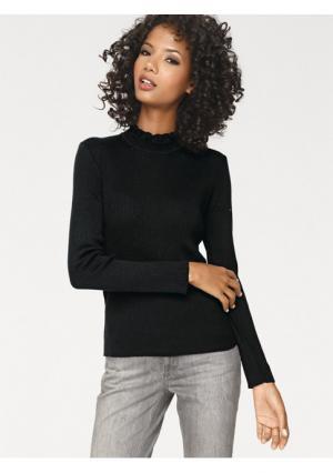 Пуловер Linea Tesini. Цвет: серебристо-серый, черный, экрю