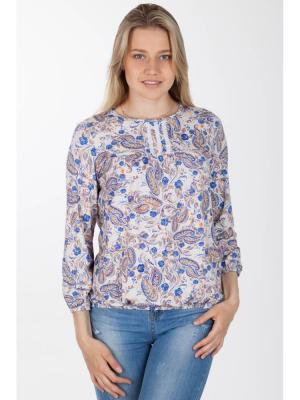 Блузка Ням-Ням. Цвет: бежевый, синий, терракотовый