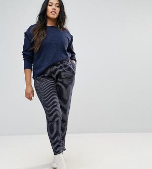 Unique 21 Hero Plus Комбинируемые брюки в полоску с завышенной талией. Цвет: темно-синий