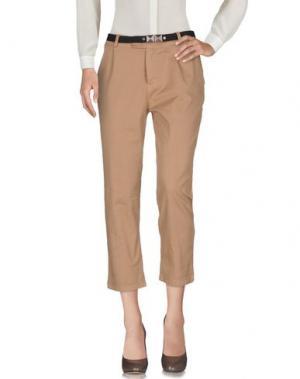 Повседневные брюки MOTEL. Цвет: верблюжий