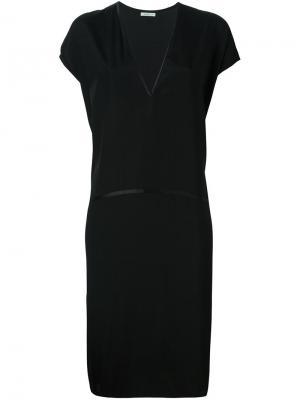 Платье с короткими рукавами 6397. Цвет: чёрный
