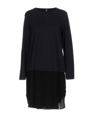 Короткое платье EUROPEAN CULTURE. Цвет: темно-синий