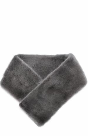 Воротник из меха норки Escada. Цвет: серый