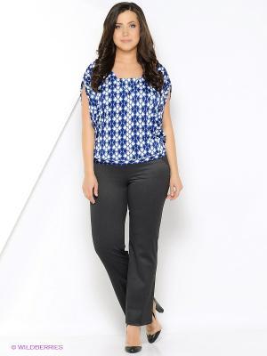 Блуза PRIZZARO. Цвет: синий, белый