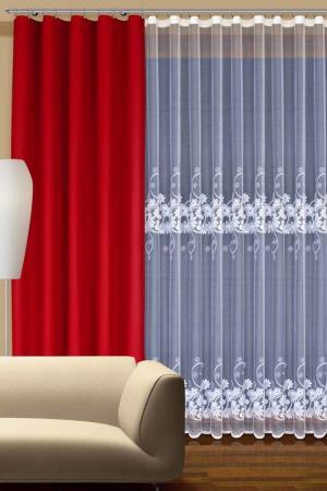 Комплект штор Haft. Цвет: красный