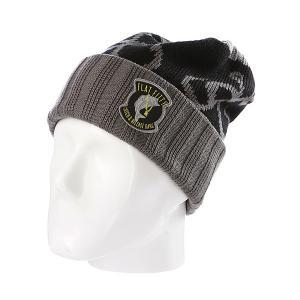 Шапка носок  Catch And Release Hooks Grey/Black Flat Fitty. Цвет: серый,черный