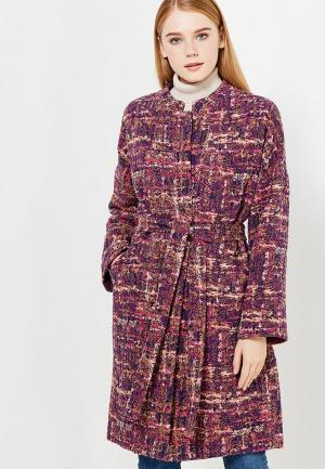 Пальто Immagi. Цвет: фиолетовый